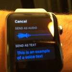 Apple Watch Voice Text Example