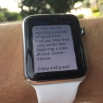 Apple Watch Workout App Example 9 of 15 Text Came in During Walk